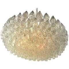 Murano Amber Chandelier By Venini 1960s At 1stdibs