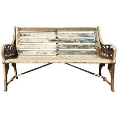 Dr C Dresser for Coalbrookdale Two 'Medieval' Pattern Cast Iron Garden Seats