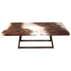 Creatis Table Hand-Painted Lacquered Solid Wood