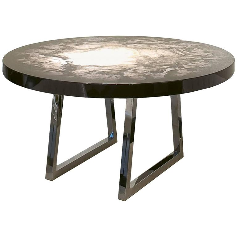 Maestra Table Hand-Painted Lacquered Solid Wood