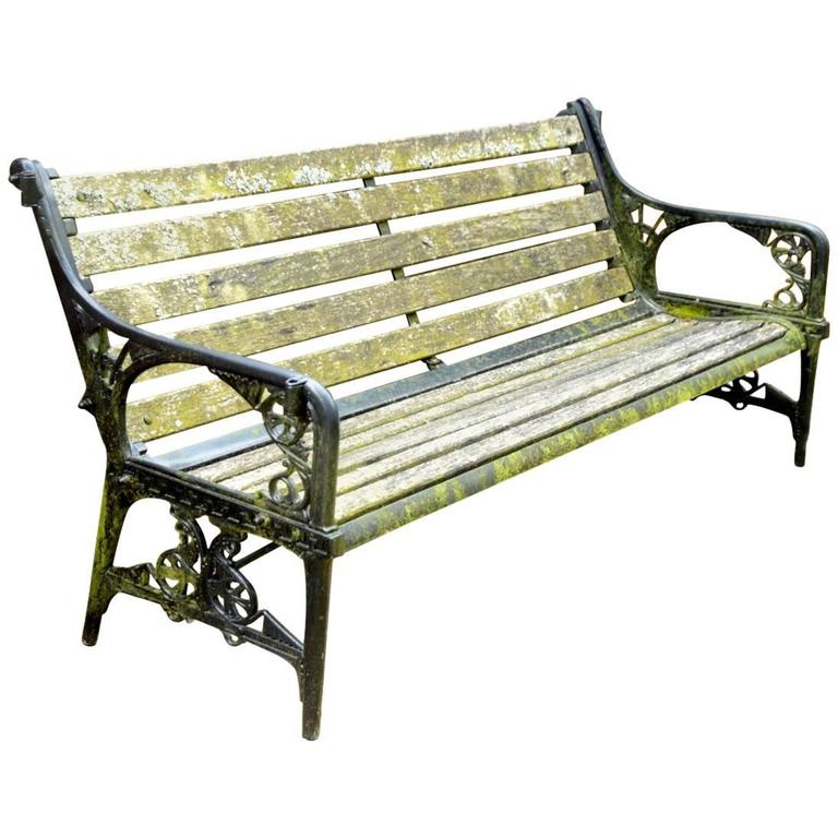 Dr C Dresser for Colebrookdale, Period Aesthetic Cast Iron Garden Canopy Seat For Sale