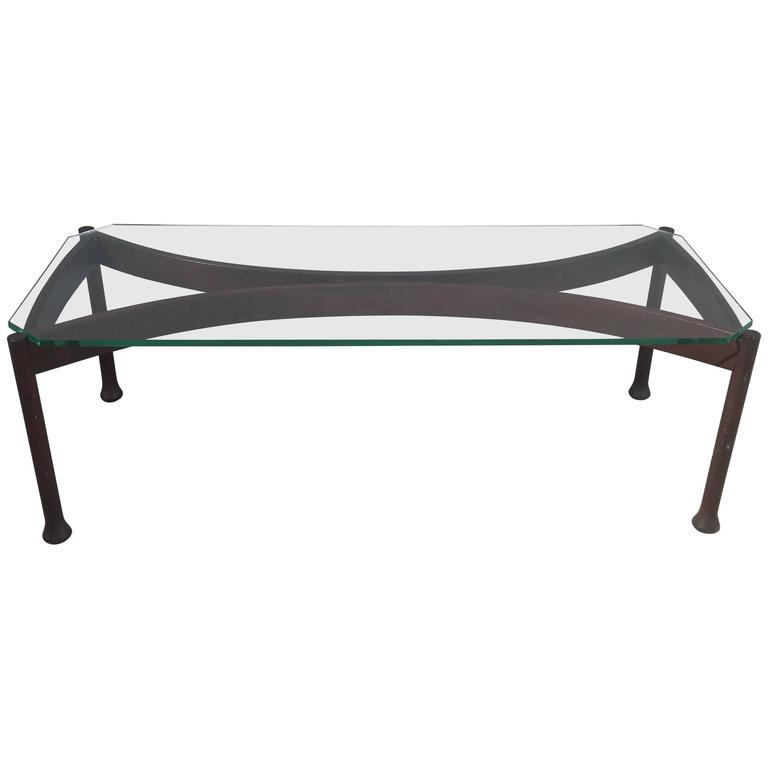 Stunning Coffee Table Attributed to Fontana Arte For Sale