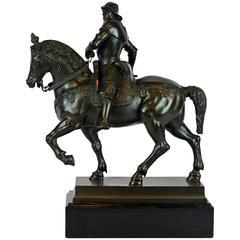 19th Century Grand Tour Bronze Figure of Bartolomeo Colleoni after Verrocchio