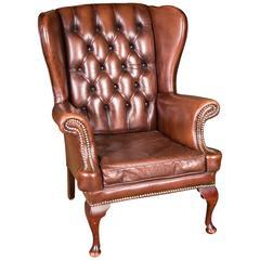 Original English Chesterfield Armchair
