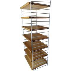Retro 1950s Tall String Wall System Shelving Unit