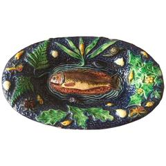 Thomas Victor Sergent-French Palissy Ware with Fish