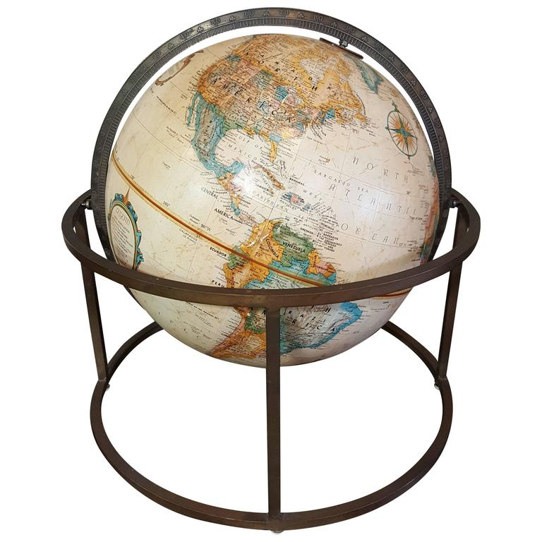 Desk Top Globe in the Style of Paul McCobb For Sale