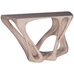 Contemporary Modern Console Table Solid Wood Dynamic Unique Shaped