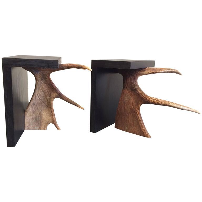 pair of rick owens stools or side tables at 1stdibs. Black Bedroom Furniture Sets. Home Design Ideas
