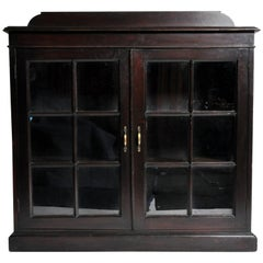 British Colonial Buffet with Glass Pane Doors