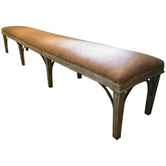 Exceptionally Long French Painted Louis XVI Style Bench