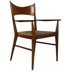 Mid-Century Modern Paul McCobb for Calvin Walnut Desk Side Armchair, 1950s