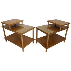 Mid-Century Modern Pair of Robsjohn-Gibbings Widdicomb Two-Tiered End Tables