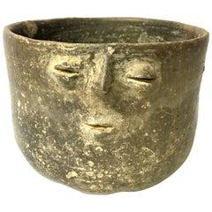 Unique Antique Handmade African Tribal Pottery Vase