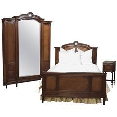 19th Century French Neoclassical Mahogany Bedroom Set