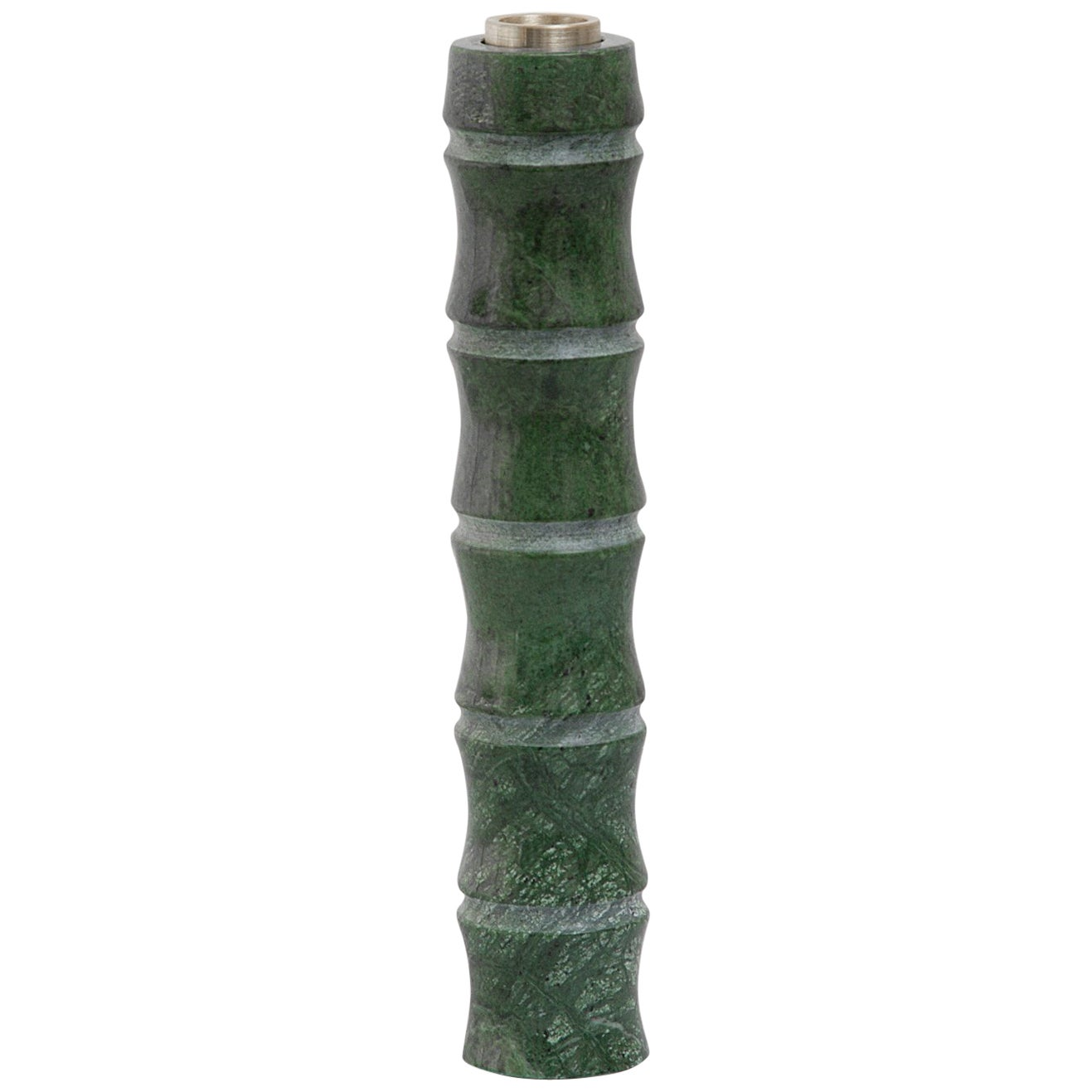 Large Candleholder in Green Guatemala Marble by Michele Chiossi, Italy
