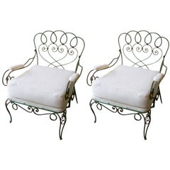 Pair of 1940s French Garden Chairs