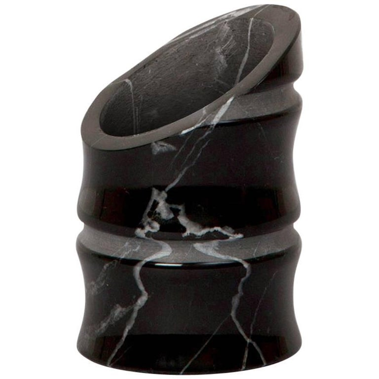 Vase 'Small' in Black Marquina Marble by Michele Chiossi, Italy For Sale
