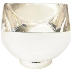Signed Vintage Ward Bennett Sculptural Silver Plate Bowl