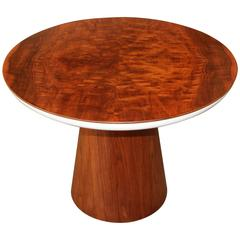 Frank Rohloff Walnut and Metal Tulip Table