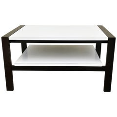 Coffee Table with Pull Out Shelf by Van Keppel-Green