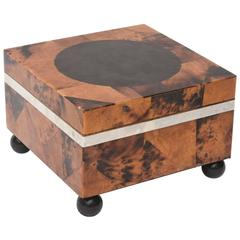 Maitland-Smith Tessilated Tortoise Square Shell Hinged Box/ SALE