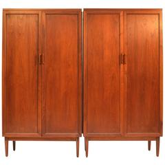 Kipp Stewart for Directional by Calvin Matching Ten-Drawer Dressers in Walnut
