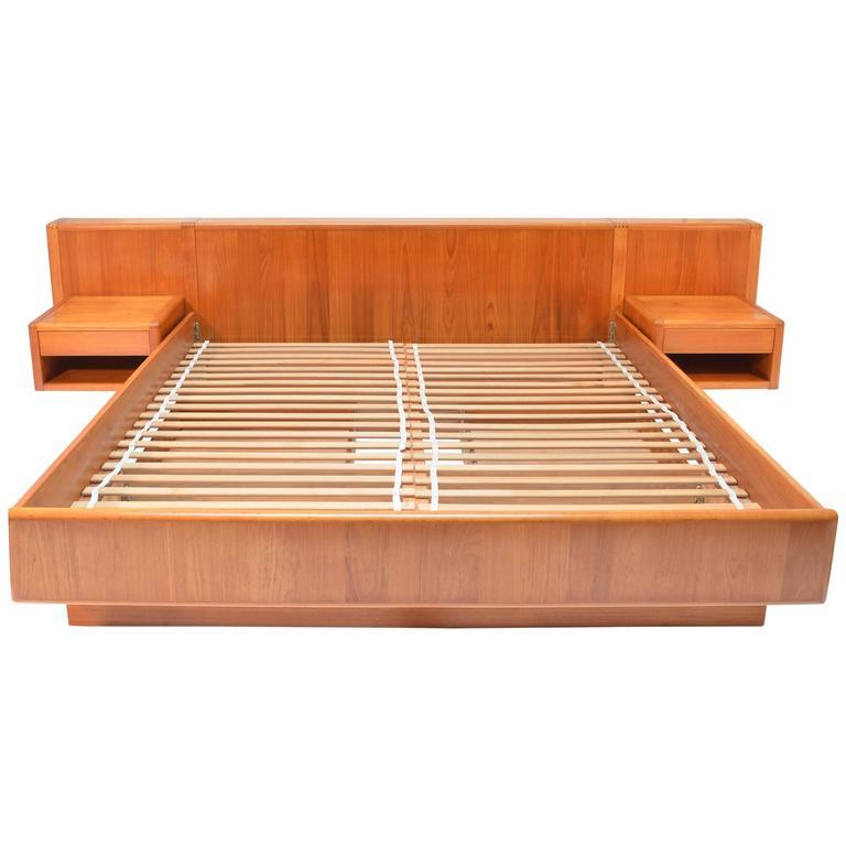 Charmant Nordisk Andels Eksport Danish Modern Teak California King Platform Bed For  Sale