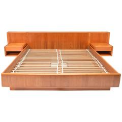 Nordisk Andels-Eksport Danish Modern Teak California King Platform Bed