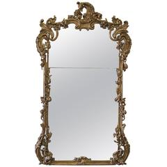 20th Century Giltwood French Mirror