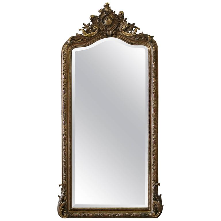 Early 20th Century Carved French Louis XV Style Giltwood Mirror