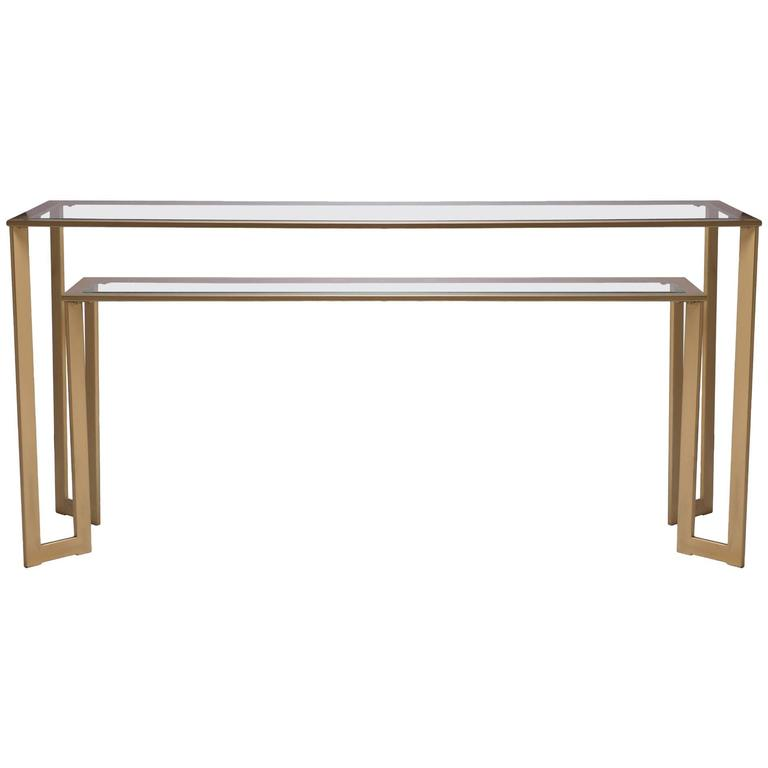 Gilt Two-Tier Geometric Console 1
