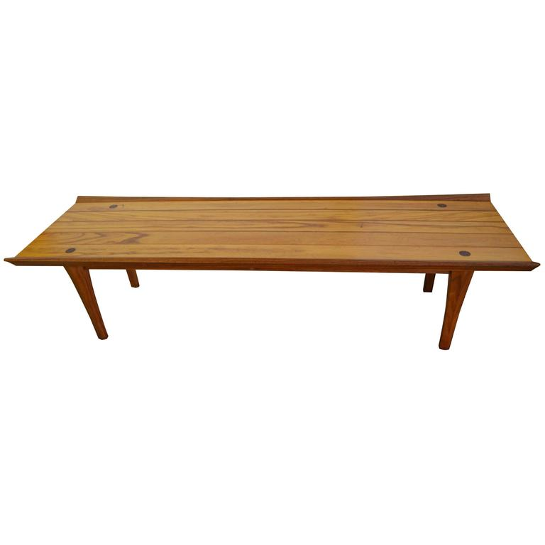 Mid Century Heritage Coffee Table Of Natural Walnut And Pecan Circa 1961 At 1stdibs