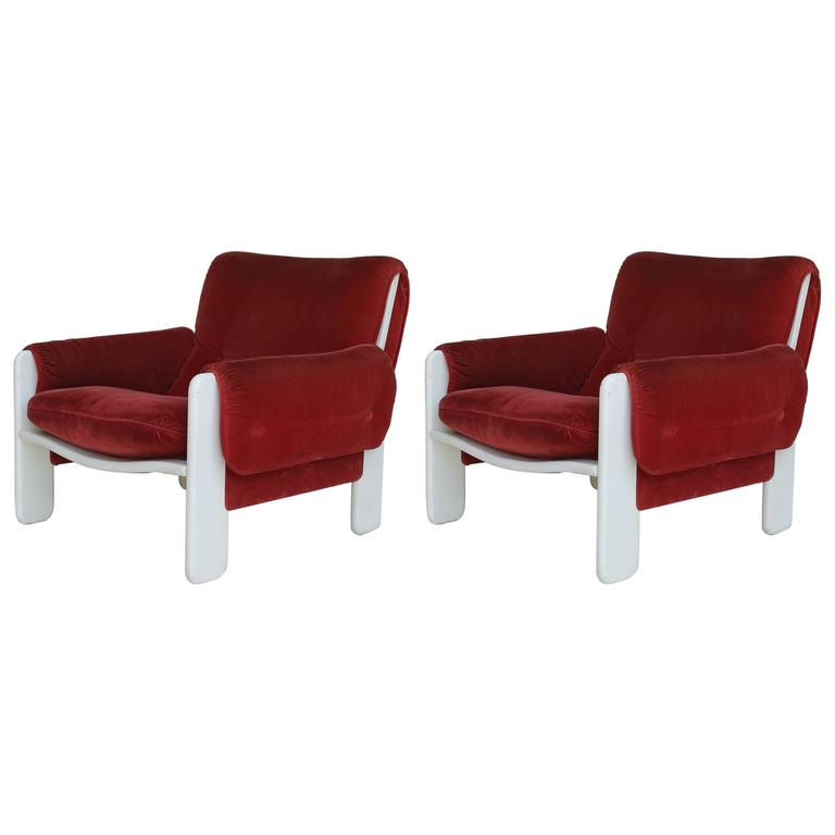 Sporting Lounge Chairs by Ammanati and Vitelli for Rossi di Albizzate