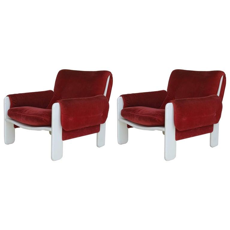 Sporting Lounge Chairs by Ammanati and Vitelli for Rossi di Albizzate For Sale