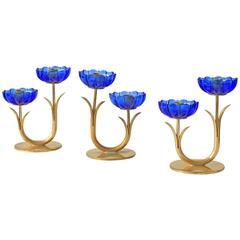 Delicate Gunnar Ander Flower Candleholders