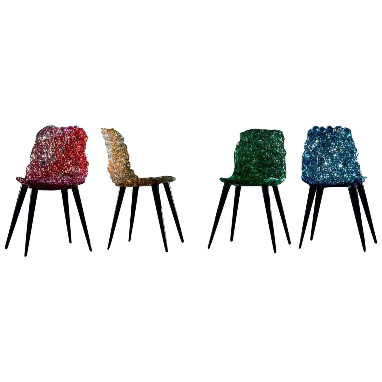 Edra Gina Chair Set of Four by Jacopo Foggini For Sale at 1stdibs