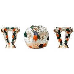 Pucci Spider Vase with Two Candle Holders