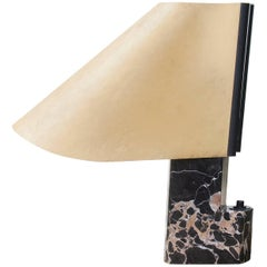 Stilnovo Table Lamp Black Marble Base Signed