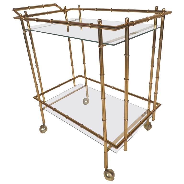 mid century modern hollywood regency style brass faux. Black Bedroom Furniture Sets. Home Design Ideas