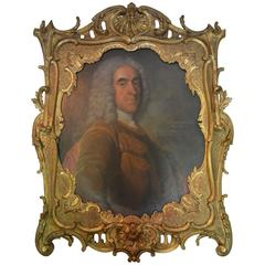 18th Century Oil Portrait of Richard Viscount Cobham