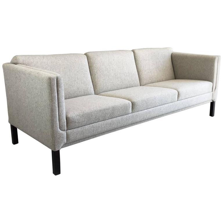 Onda Chair And Ottoman In Missoni Fabric By Giovanni: 1970s Danish Mid-Century Sofa With Original Grey Woollen