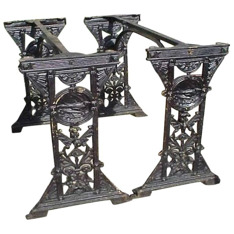 Pair Aesthetic Movement Cast Iron Garden Tables in The Manner of Thomas Jeckyll