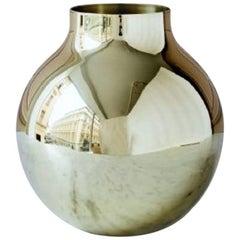 Olivia Herms for Skultuna, Large Boule Vase in Brass