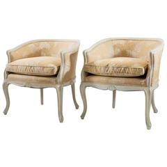 Pair of Louis XV Bergere Chairs with Carved Shell Motifs