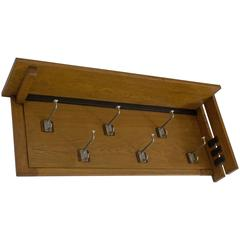 Stylish Art Deco Haagse School Coat Rack by P.E.L.Izeren for Genneper Molen