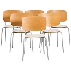 Set of Six Scandinavian Modern Chairs by Jonas Lindvall for Skandiform