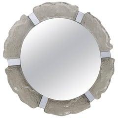 Kalmar Ice Glass Round Mirror