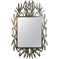 Cat Tail Iron Mirror