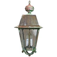 Vintage Hanging Copper Lantern